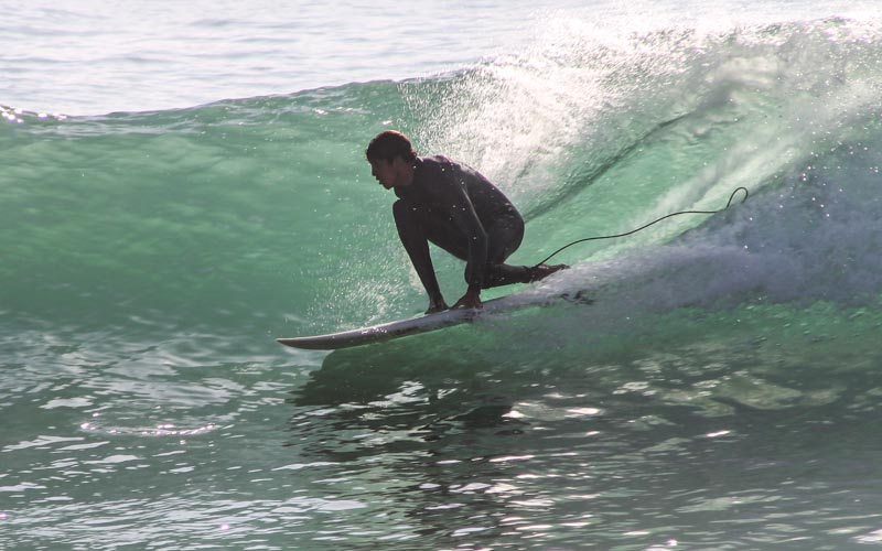 Students are learning surf